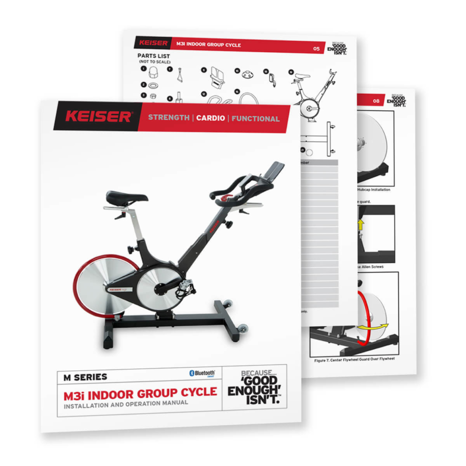 Keiser M3i Indoor Bike Assembly Instructions And Video